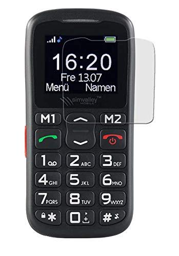 Bildschirmschutzfolie für Simvalley Mobile XL-915 V3 - (6 Stück) seidenmatte Premium Folie Antireflex - Antifingerprint - Schutz Folie - Schutzfolie