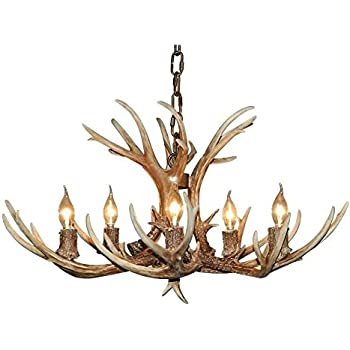 Effortinc retro resin antler chandeliers amazon lighting effortinc retro resin antler chandeliers aloadofball Choice Image