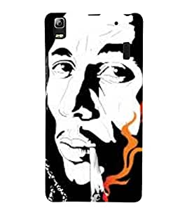 Takkloo abstract picture man with mushtache,black background, trendy cover) Printed Designer Back Case Cover for Lenovo K3 Note :: Lenovo A7000 Turbo