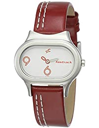Fastrack Analog White Dial Women's Watch -NK2394SL01