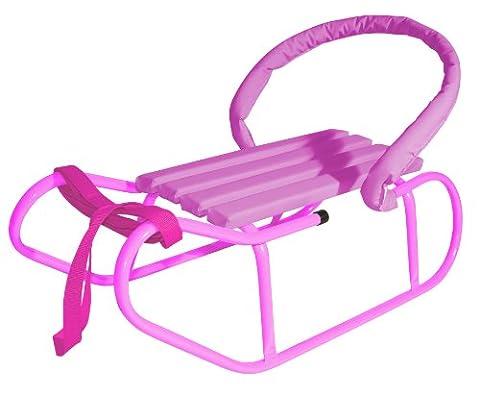 Baby Schlitten mit Rückenlehne und Zuggurt - verschiedene Farben - %% WSV %% (Hörnerschlitten Mit Rückenlehne)