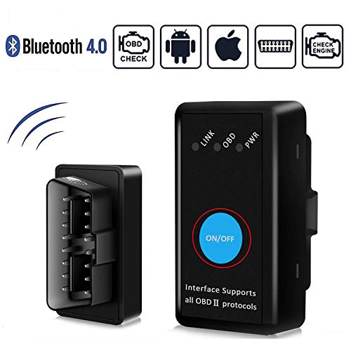 GeekerChip OBD2 Bluetooth 4.0, OBD II Auto Strumenti Diagnostici per Maggior Parte Auto Auto,Forte Compatibilità-Collegare Via Bluetooth 4.0-Compatibile con iOS, Android,Windows & Symb