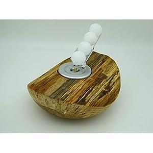 Kerzenhalter Kerze Wachskugeln Eiche Holz Edelholz Teelichthalter