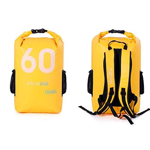 LXB Schwimmender wasserdichter Packsack, 60 l Stoff mit großer Kapazität ist stark und wasserdicht, geeignet für Kajakfahren, Rafting, Bootfahren, Schwimmen, Camping. (Ho-wasser-ski-handschuhe)