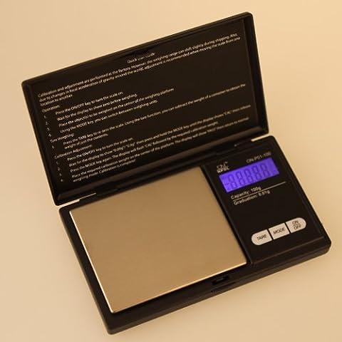 Unory (TM) 100 g * 0,01 g Mini-LCD-elektronische Digital-Taschen-Skala-Schmuck-Golddiamant Gewichtung-Skala-Gramm-Gewicht Waage