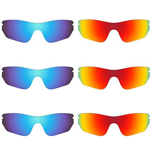 Revant Ersatzlinsen für Oakley Radar Edge Polarisiert 6 Paar Kombipack K029
