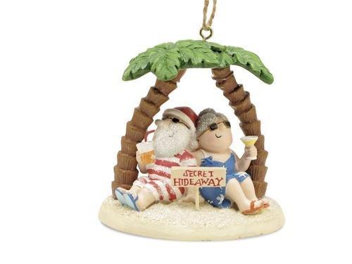 Cape Shore Santa und Mrs. Claus Insel Secret Hideaway Palm Ornament
