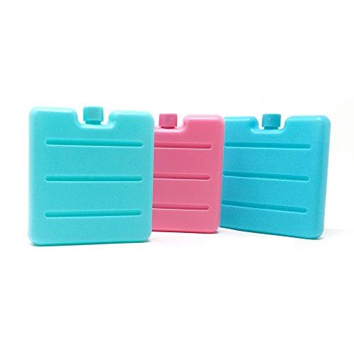 ToCi-pequeños acumuladores de frío en azul, rosa y verde   Mini acumuladores para nevera portátil   acumuladores de frio para fiambreras, 3