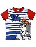 Tom et Jerry Baby Jungen (0-24 Monate) T-Shirt Gr. 92, Blau/Rot