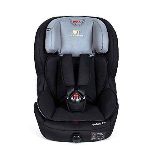 Kinderkraft Safetyfix Kinderautositz mit Isofix 9-36 kg Gruppe 1 2 3 Schwarz