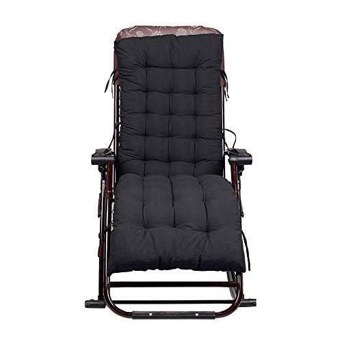 Sonnenliege Kissen Gartenmöbel Liegestuhl Sitzkissen Polster Terrassenliege Liegestuhl Lounge Pad, 155x48x8cm, schwarz