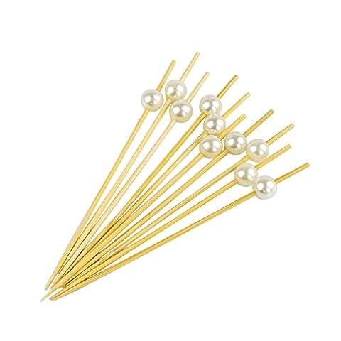 phifo 100zählt Cocktail Sticks Zahnstocher aus Holz für Chrismas, Hochzeiten,,, Baby Dusche & Knabbereien Tapas Sandwich canopes Vorspeisen white