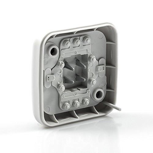 Baugewerbe Hell Aufputz Ap Ip54 Wassergeschützt Schalter Steckdose Kombination Feuchtraum ZuverläSsige Leistung Heimwerker