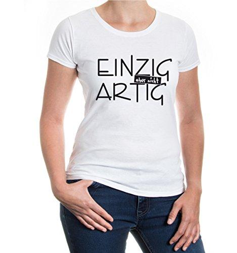 buXsbaum® Girlie T-Shirt Einzig aber nicht artig White-Black