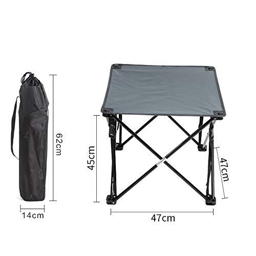 SQYY Outdoor Klapptisch Picknick Camping Grill Tisch Faul Tisch Einfach Tragbar Leicht Erweiterungsgröße: 45Cm * 47Cm * 47Cm Produktfarbe: Blau Grau Klappgröße: 62Cm * 14Cm,1 -