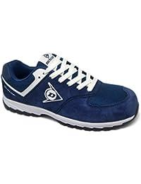 Dunlop DL0201026-42 Zapato, Piel de Ante y Mesh, Marino, 42