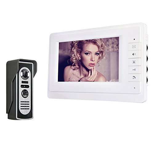 Farbe-ir-video (DB175-17,8 cm TFT Farbe Video Türsprechanlage Intercom Klingeln, System Kit-IR-Kamera Doorphone Monitor Lautsprecher Tür Glocke Gegensprechanlage)