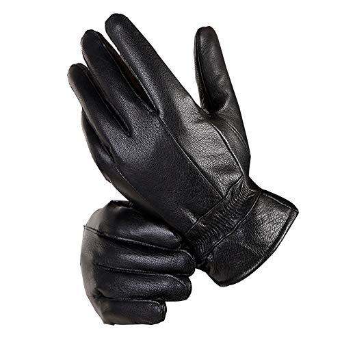 TRDyj Handschuhe Lederhandschuhe Herren Warm Riding Motorrad Plus Samt Dicke Dünnschliff Fahren Ziegenleder Handschuhe Herrenhandschuhe (größe : XL) -