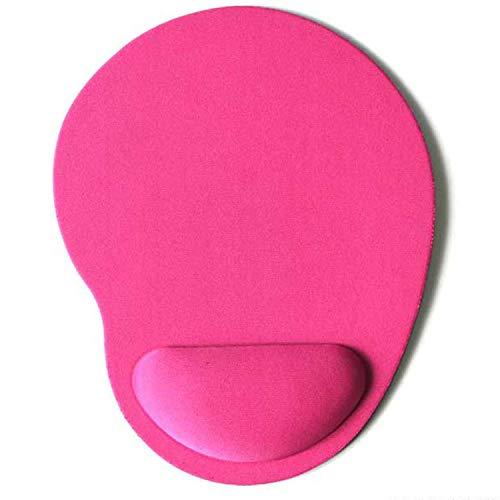 Ocamo Mauspad, Eco Handgelenkauflage Maus Tastatur Handgelenkstütze Einfarbiges Set Set für Computer, Laptop und Notebook rose Red