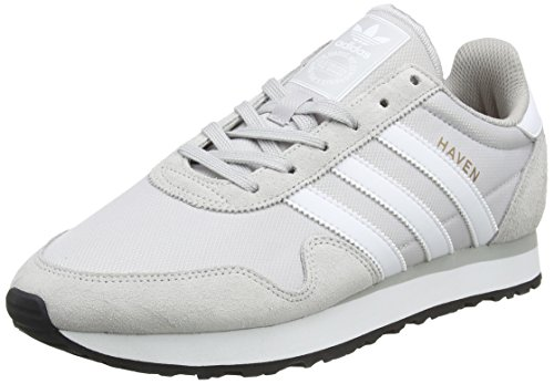 Solid White Herren Schuh (adidas Herren Haven Trainer Low, Grau (Solid Grey/Footwear White/Clear Granite), 46 EU)