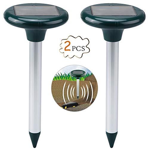 Petacc 2Pcs Ultraschall Schädlingsbekämpfer Ultraschall gegen Mäuse Solarbetriebene Tier Bekämpfend, Multifunktionale Tier Schädlingsbekämpfung, geeignet für Bauernhof, Garten und Rasen (2Pcs)