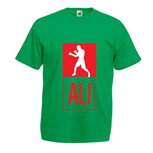 lepni.me Camisetas hombre Boxeo   en el estilo de lucha Para Entrenamiento, Deportes, Ejercicio, funcionamiento, ropa de fitness (X Large Verde Multicolor)