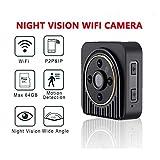 Shuua Wireless Mini Kamera 720P HD WiFi IP DV Kamera Infrarot Nachtsicht Mikrokamera Weitwinkel 150 Grad Camcorder