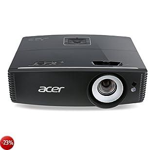 Acer P6600 Proiettore, Risoluzione WUXGA, Connessione VGA/MHL, Luminosità 5.000 Ansi, Contrasto 20.000:1, Nero