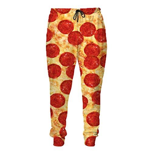Unisex 3D Full Printed Pizza Sweatshirt T-Shirt, Hoodies, Trainingsanzüge Jogginghose Pizza with Bacon M - Midweight Denim Shirt