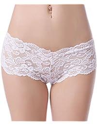 Ladies Women Underwear Knickers Boxer Briefs Thongs Shorts Pants White Lace G String Lingerie