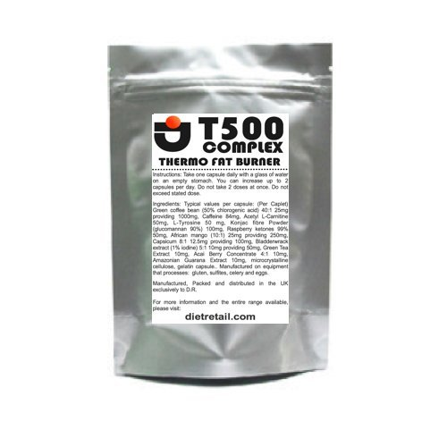 T500 COMPLEX | MONTH PACK | ADVANCED SUPER STRENGTH | THERMO FAT BURNER DIET PILLS | T5