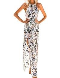 15f5efb581364 CLOOM Fashion Vestito Donna Elegante Donna Abito Bohemien Stampato Lungo  Maxi Abiti Abito Princess Chiffon Per