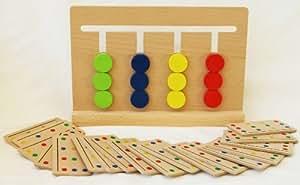 Toys of Wood Oxford rompicapo in legno per bambini - puzzle di ordinamento