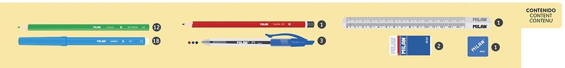418p0YJeSxL - Milan Matt Touch Estuches, 21 cm, Rojo
