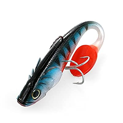 Lixada 20cm 120g Big Soft Fishing Lure Lifelike Artificial Sea Boat Fish Tail Lures Swimbait Freshwater Saltwater Fishing Lures Baits by Lixada