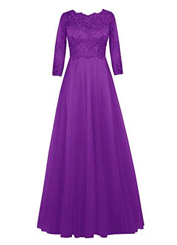 Dresstells Damen Abendkleider Homecoming Kleider Abiballkleider Purpur
