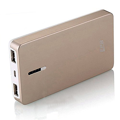 EPB 8000mAh External Battery Power Bank Portable Charger Backup Pack for iPhone, Samsung, Galaxy, Tablets and More (Gold)