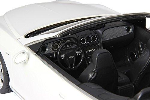 RC Auto kaufen Spielzeug Bild 3: RC Bentley Continental GT Speed Convertible (Cabrio) - schwarz oder weiß - Maßstab: 1:12 - LED-Licht - ferngesteuert, inkl. allen Batterien - RTR - LIZENZ-NACHBAU (Weiß 40MHz)*