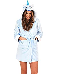 Ladies Luxury Soft Unicorn Robe by Martildo | Hooded Novelty Fun Gift 3D Dressing Gown