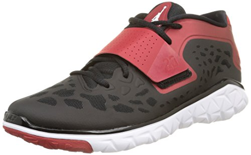 Nike Herren Jordan Flight Flex Trainer 2 Klassischer Schnürhalbschuh Mehrfarbig (Black/White-Gym Red)