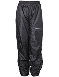 Sceed Pantalones para Lluvia con Forro Térmico, Negro, XL