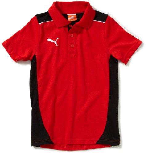 PUMA - Camiseta de fútbol sala para niño, tamaño 176 UK, color rojo