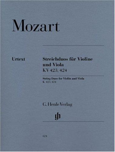 Streichduos für Violine und Viola KV 423, 424