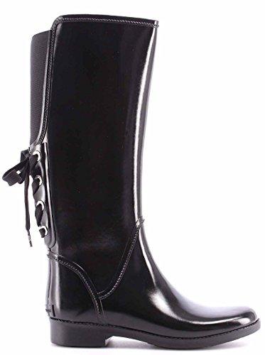 Women's Shoe Ankle Boots MICHAEL KORS Larson Rainboot Rubber Black Natural New