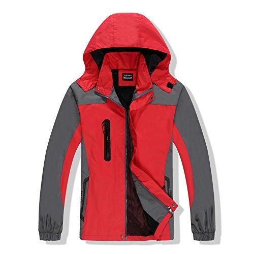 Juqilu Chaqueta para Mujeres Hombre para Deportes Esquí Invierno Abrigo Fleece Forro Impermeable Chaqueta de Nieve a Prueba Viento Excursionismo Ropa de Deporte M-3XL