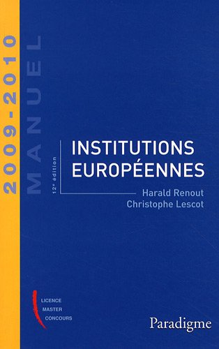 Institutions européennes 2009-2010