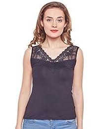 CAMEY Women's Girl's Cotton Spaghetti Tank Top Slips Under Dress (GS23_Black)