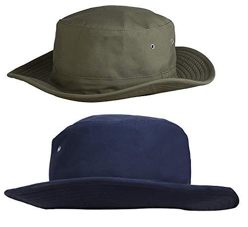Zacharias Men's Cricket Umpire Hat Pack of 2 Green & Navy Blue