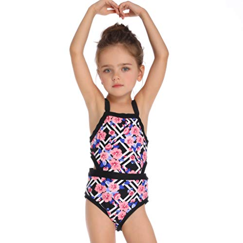 Kinder Einteiler 1-6 T Baby Mädchen Bikini Blumen Split Tankini Badeanzug Badeanzug Schwimmen Mädchen Kleidung Sport E Push-up Bikini 100% Garantie Kinder Bademode