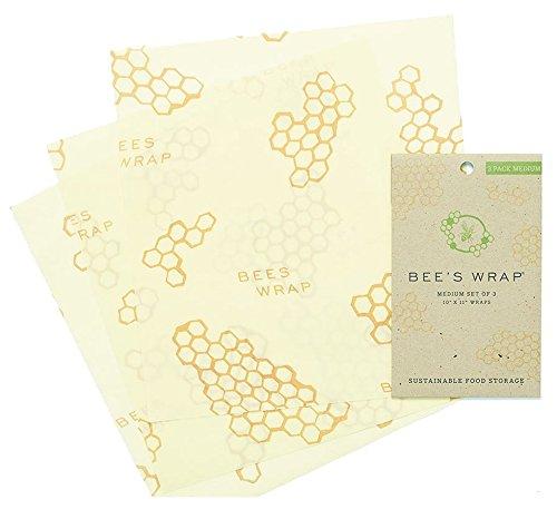 """Nicht Kunststoff wiederverwendbare Lebensmittel-Wrapper Set 3 Medium Wraps (10""""X11"""")"""
